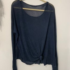 Brandy Melville OS Navy Blue Sweater
